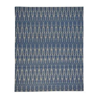 Reversible Geometric Kilim Hand-woven Oriental Area Rug (7'7 x 9'4)