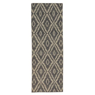 Runner Geometric Kilim Handmade Reversible Oriental Area Rug (2'8 x 7'9)