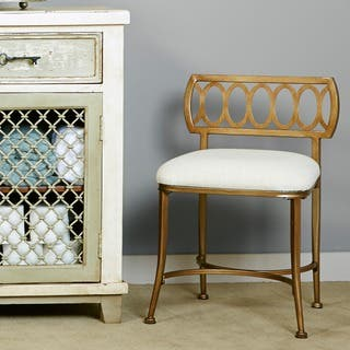 white living room chair. Hillsdale Canal Street Vanity Stool  Option White Living Room Chairs For Less Overstock com