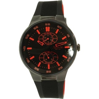 Kenneth Cole Men's KC8033 Black Silicone Quartz Watch