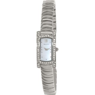 Bulova Women's 96L207 Crystal Stainless Steel Quartz Watch