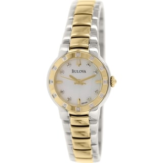 Bulova Women's Diamond 98R168 Goldtone Stainless Steel Quartz Watch