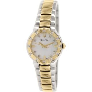 Bulova Women's Diamond 98R168 Goldtone Stainless Steel Quartz Watch