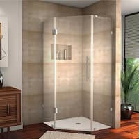 Aston Neoscape 40-in x 40-in 72-in Completely Frameless Neo-Angle Shower Enclosure in Chrome