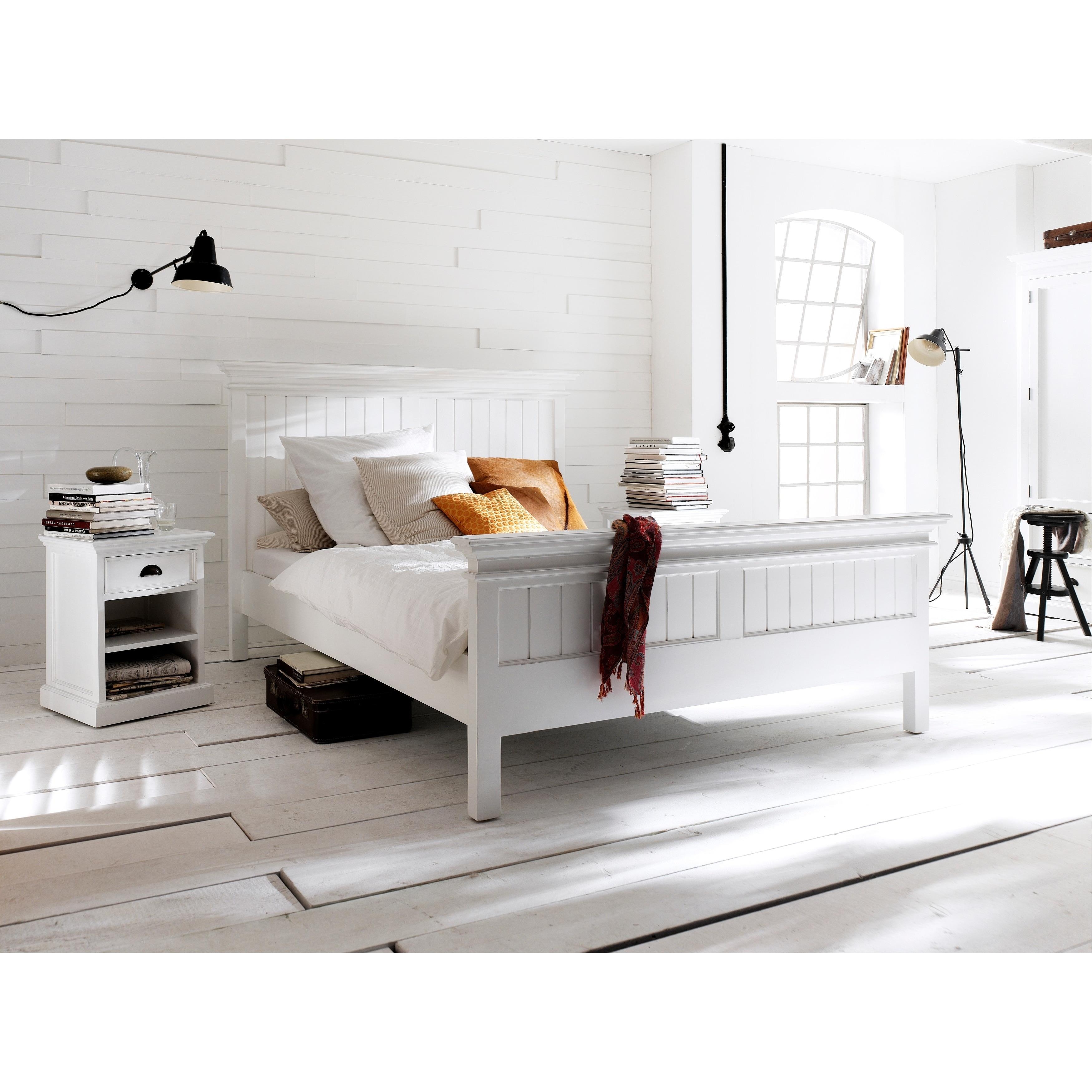 Shop Novasolo Mahogany King Size Bed Free Shipping On