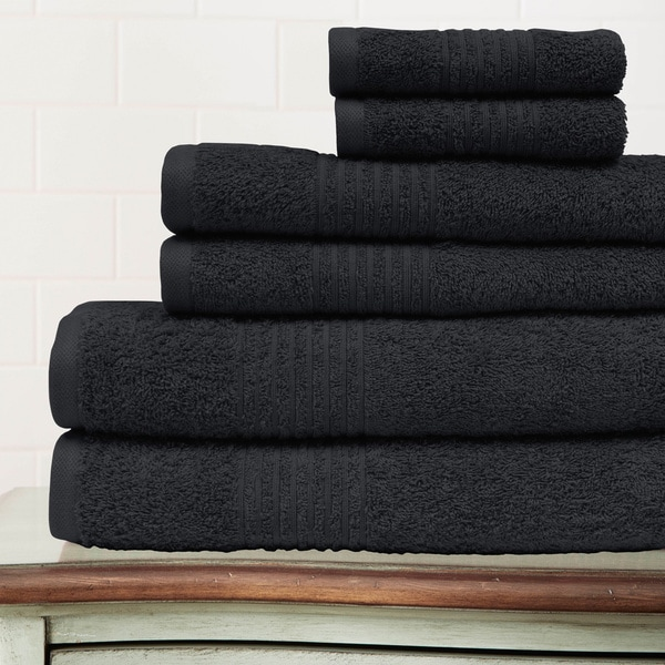 Amraupur Overseas Combed Cotton 6-piece Solid Towel Set
