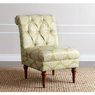 ABBYSON LIVING 'Alexis' Floral Moss Tufted Slipper Chair