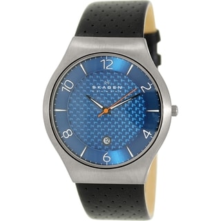 Skagen Men's SKW6148 Black Leather Quartz Watch