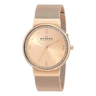Skagen Women's Ancher SKW2130 Rose Goldtone Stainless Steel Quartz Watch