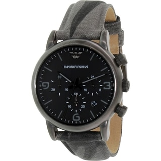 Emporio Armani Men's Classic AR1817 Gunmetal Nylon Quartz Watch
