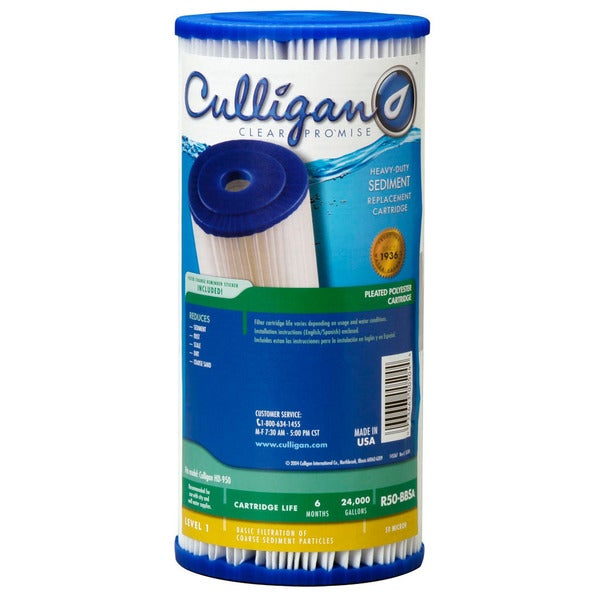 R50-BBSA-D Culligan Whole House Water Filter Replacement Cartridge - White