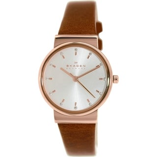 Skagen Women's SKW2260 Brown Leather Quartz Watch