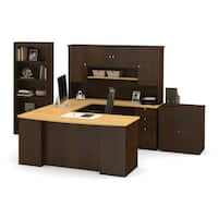 Bestar Manhattan Lateral File/ Bookcase U-shaped Workstation Desk