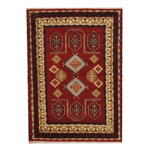 Handmade One-of-a-Kind Kazak Wool Rug (India) - 4'7 x 6'6