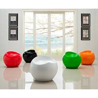 Porch & Den Silver Lake Armstrong High-gloss Fiberglass Rounded Stool