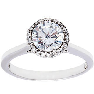 Tacori Platinum Cubic Zirconia 1/6ct TDW Diamond Ring (G-H,VS1-VS2)