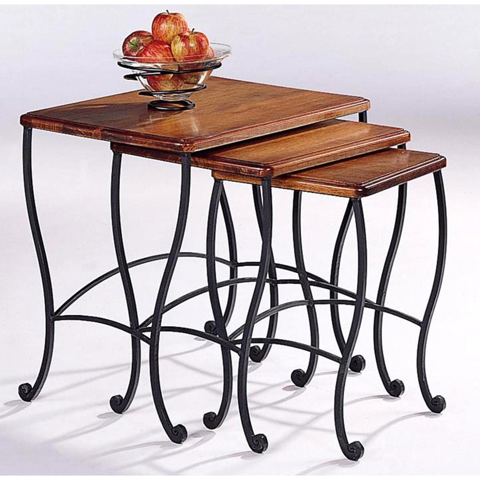 Antique Rustic Brown 3-piece Nesting Table Set (Rustic Br...