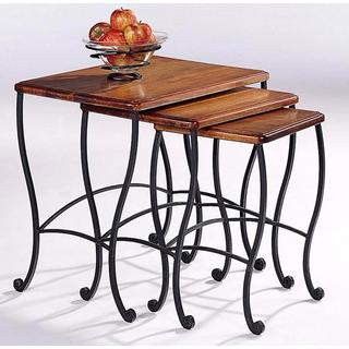 Antique Rustic Brown 3-piece Nesting Table Set