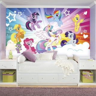 Roommates My Little Pony Cloud XL Chair Rail Prepasted Mural