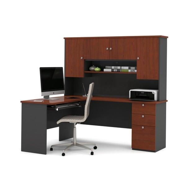 Bestar Manhattan L Shaped Workstation Desk Free Shipping Today 17067063