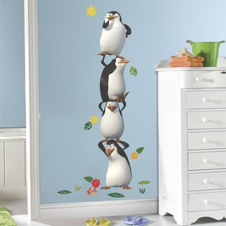 Roommates Penquins of Madagascar Peel and Stick Giant Wall Decal