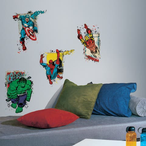 Roommates Marvel Superhero Burst Peel and Stick Giant Wall Decal