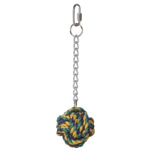 Multipet Nuts for Knots Ball on a Chain Bird Toy