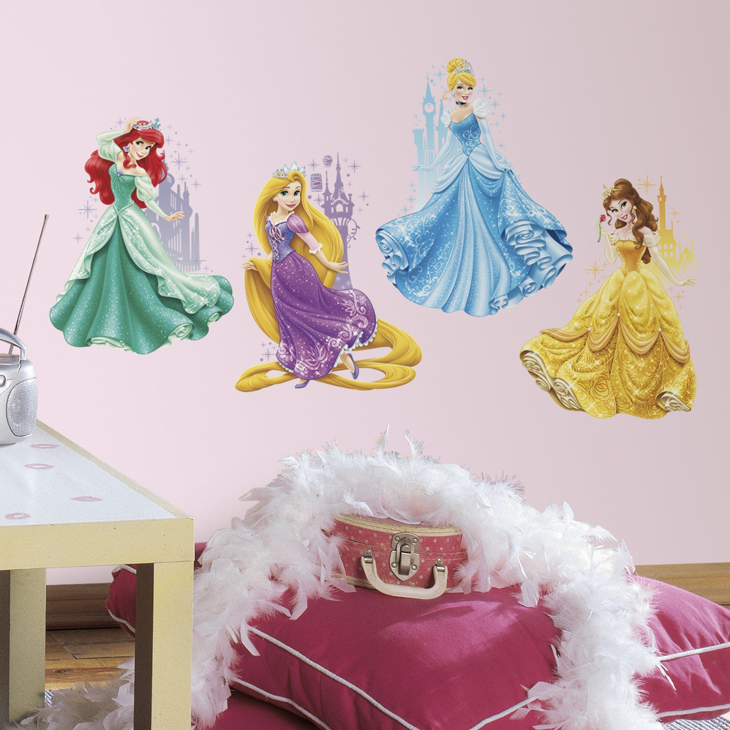 RoomMates Disney Princess Castles Peel and Stick Giant Wa...
