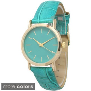 Olivia Pratt Women's Embossed Leather Band Watch