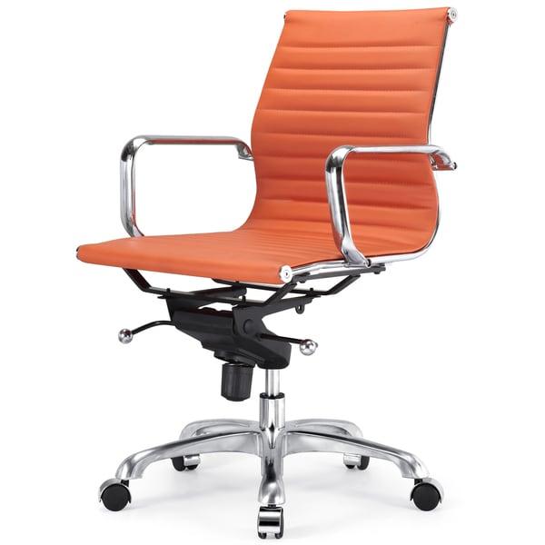Due Modern fice Chair in Orange Vegan Leather Free