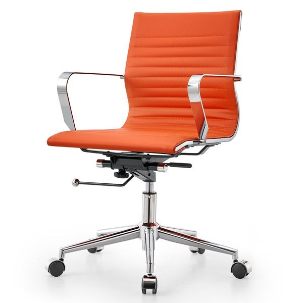 Awesome M33 Meelano Modern Orange Vegan Leather Office Chair