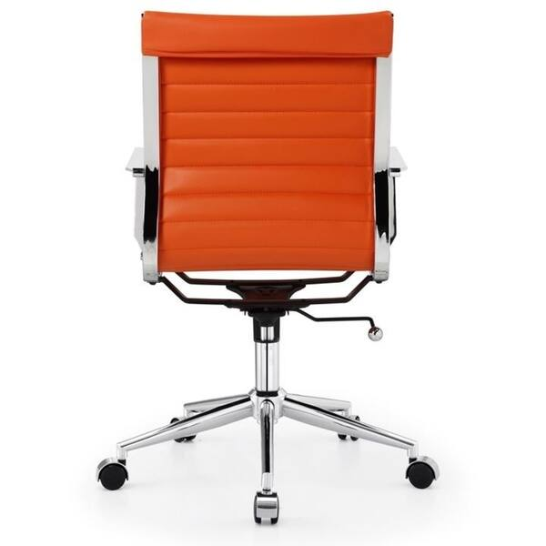 Tremendous Shop M344 Meelano Modern Vegan Leather Office Chair Orange Machost Co Dining Chair Design Ideas Machostcouk