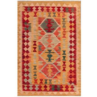 Herat Oriental Afghan Hand-woven Tribal Wool Kilim (3'2 x 4'10)