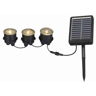 Nova Solar Deck/ Dock and Path 3-light String with Remote Panel