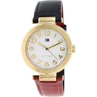 Tommy Hilfiger Women's 1781492 Red Leather Analog Quartz Watch