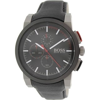 Hugo Boss Men's 1512979 Black Leather Quartz Watch