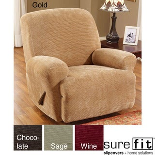 Sure Fit Royal Diamond Stretch Recliner Slipcover Sage (As Is Item)  sc 1 st  Overstock.com & Sure Fit Recliner Covers u0026 Wing Chair Slipcovers - Shop The Best ... islam-shia.org