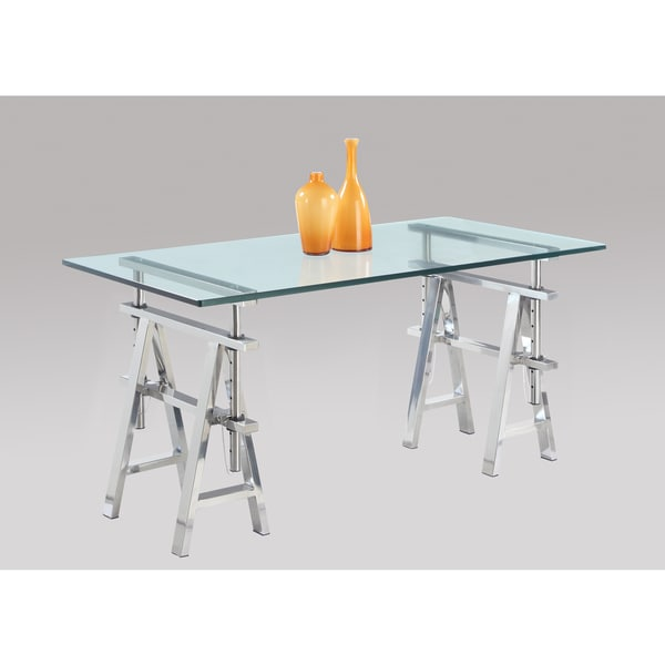 Glass Adjustable Desk - Free Shipping Today - Overstock.com - 17067751
