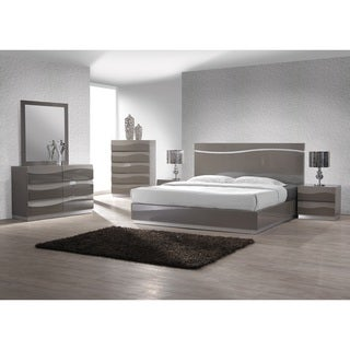Christopher Knight Home Devlin Modern High Gloss Grey Bed