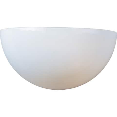 Maxim Essentials 20585 White 1-light Wall Sconce