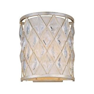 Maxim Diamond Silver 2-light_ Wall Sconce