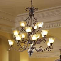 Maxim Symphony Bronze 15-light Multi Tier Chandelier