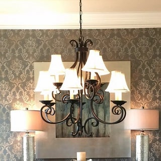 Maxim Manor Bronze 9-light Multi Tier Chandelier