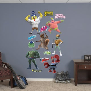 Fathead Sponge Out of Water Superheroes Collection Wall Decals