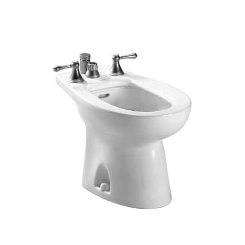 Toto Piedmont Deck Mount Vertical Spray Flushing Rim Bidet, Cotton White (BT500B#01) - N/A