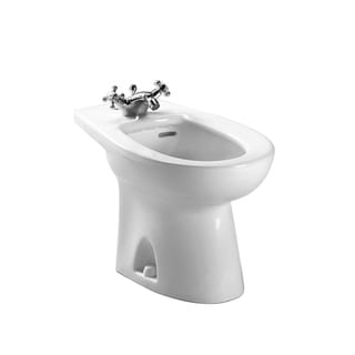 Toto Piedmont White Alpin Ceramic 1-hole Center Bidet