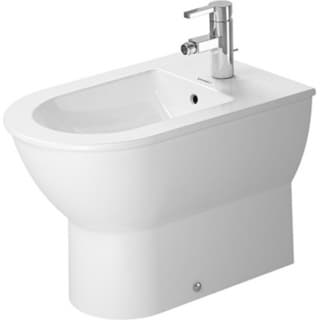 White Alpin China Back to Wall Special Order Bidet