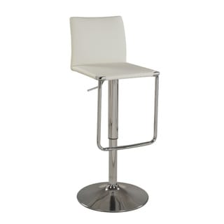 Somette White Low Back Pneumatic Stool