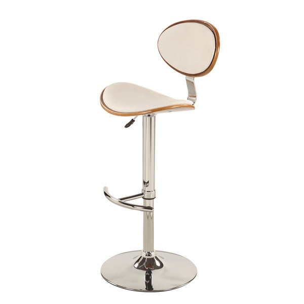 Christopher Knight Home White Stool With Wood Border