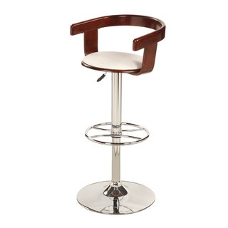 Christopher Knight Home White Bentwood Pneumatic Swivel Stool